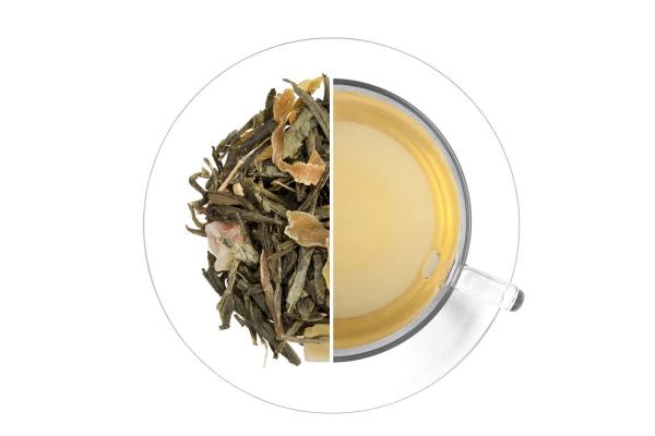 Bambusz kunyhó ízesített zöld tea termék képe