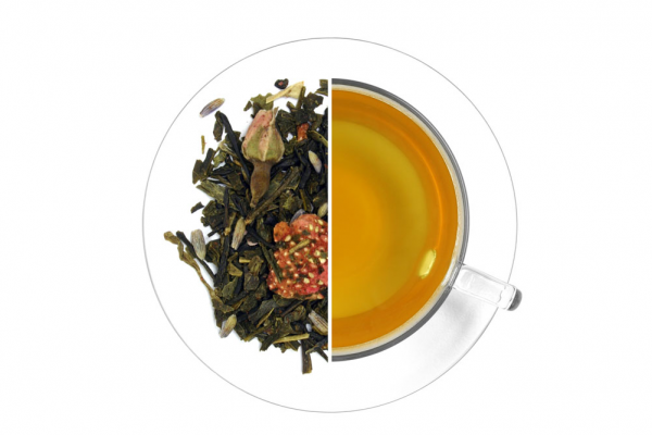 Pezsgős eper ízesített zöld tea termék képe