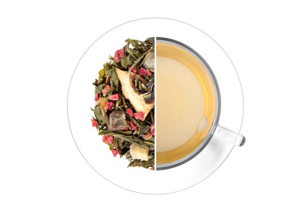 Sárgabarack - lime ízesített zöld tea termék képe