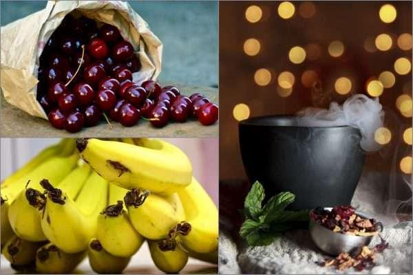banán cseresznye gyumolcstea
