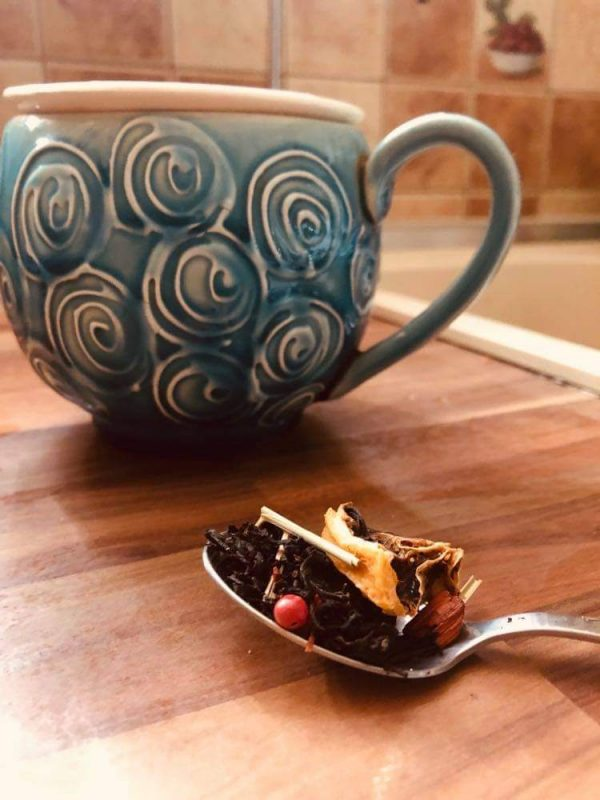 heves ölelés ízesített fekete tea saját kép3