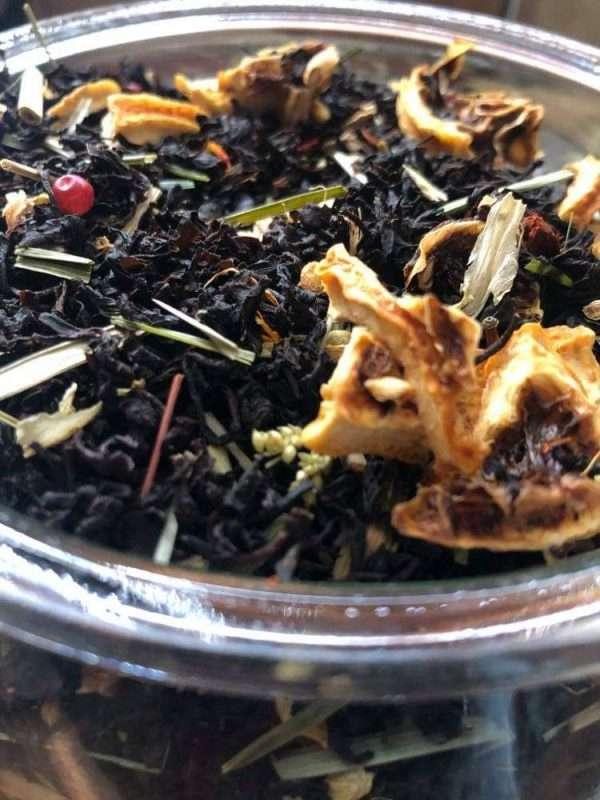 heves ölelés ízesített fekete tea saját kép