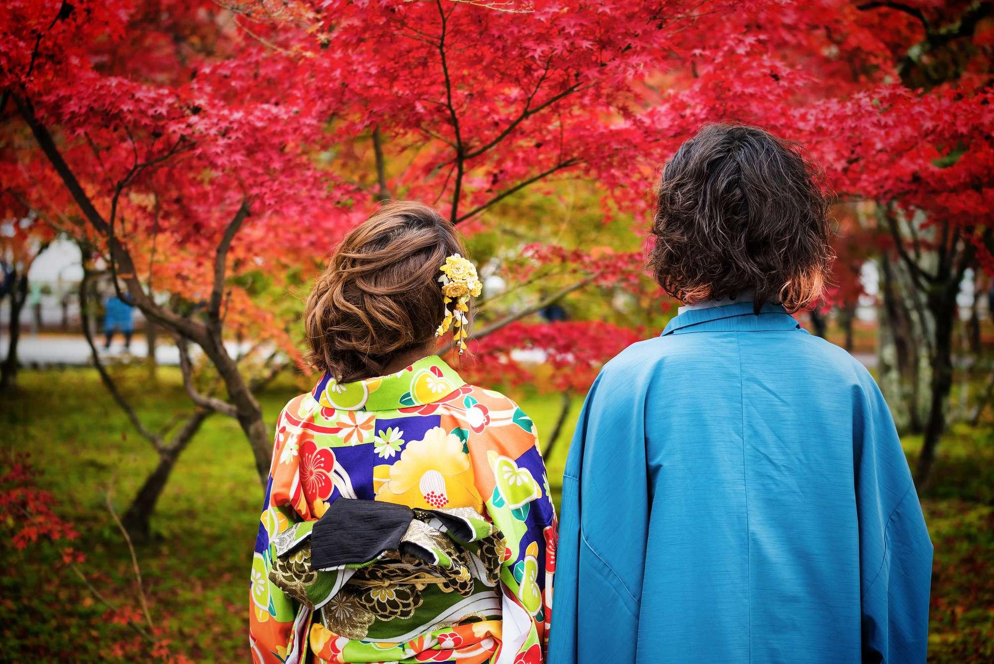 Színpompás japán juharok között romantikus hangulatba kerültök!