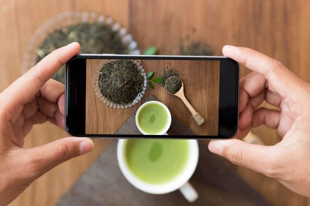 matcha tea fotozasa instagramra