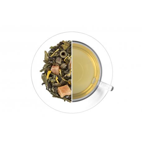 Koromvirag barack zold tea