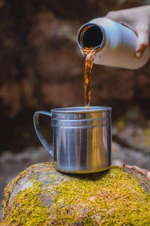A természetben is jól esik a forró tea, mi termoszban vittük magunkkal